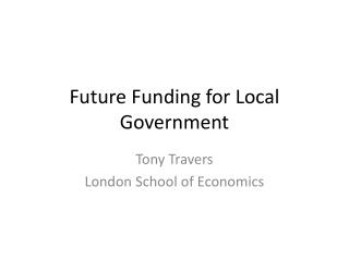 Future Funding for Local Government