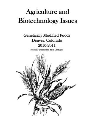 Agriculture and Biotechnology Issues