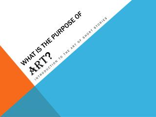 What is the purpose of  ART ?