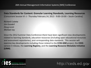 26th Annual Management Information Systems [MIS] Conference