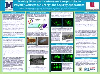 Printing Silver and Luminescent Nanoparticles in Polymer Matrices for Energy and Security Applications