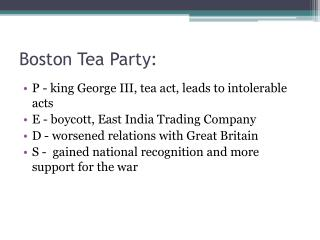 Boston Tea Party: