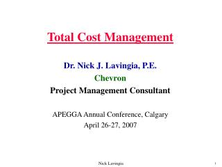 total cost management
