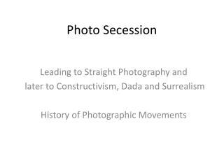Photo Secession