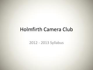 Holmfirth Camera Club