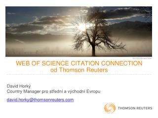 WEB OF SCIENCE  CITATION CONNECTION od  Thomson Reuters