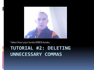 Tutorial #2: Deleting Unnecessary Commas