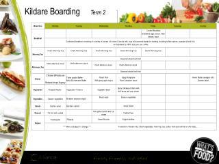 Kildare Boarding      Term 2