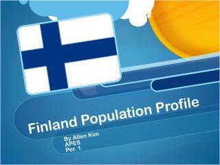 Finland Population Profile