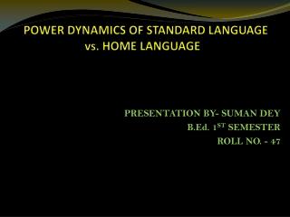 power  language:  cultural capital