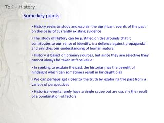 ToK  - History