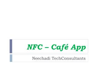 NFC –  Café App