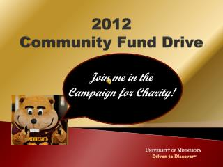 2012  Community Fund Drive