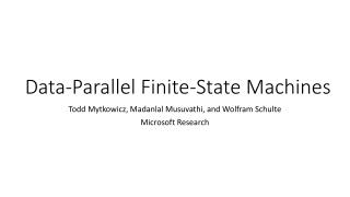 Data-Parallel Finite-State Machines