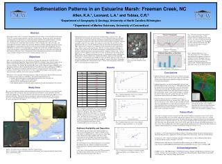 Sedimentation Patterns in an Estuarine Marsh: Freeman Creek, NC