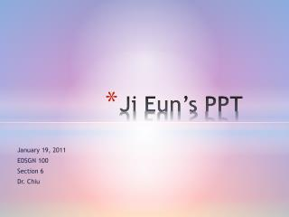 Ji Eun's  PPT