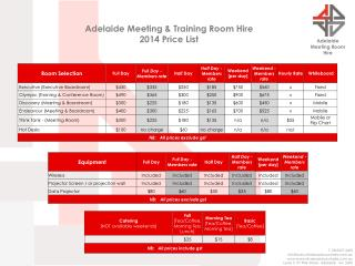Adelaide Meeting Room  Hire
