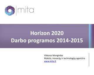 Horizon 2020 Darbo programos 2014-2015