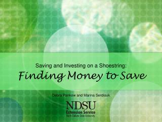 Saving and Investing on a Shoestring: