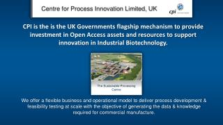 Centre for Process Innovation Limited, UK