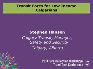 Transit Fares for Low Income Calgarians