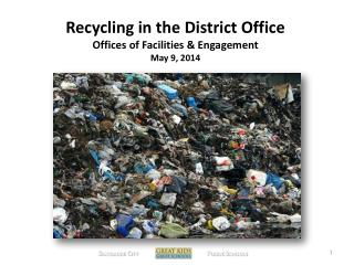 Recycling in the District Office Offices  of Facilities & Engagement May 9, 2014