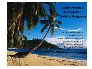 Coeus Proposal Development Training Programs