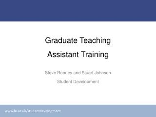Graduate Teaching Assistant Training