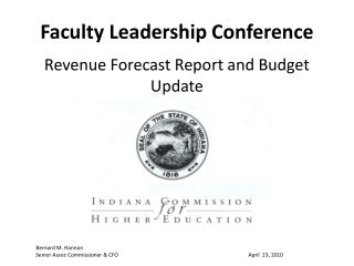 Faculty Leadership Conference Revenue Forecast Report and Budget Update