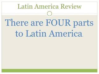 Latin America Review