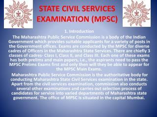 State Civil Services Examination (MPSC)