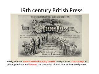 19th  century  British  Press