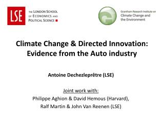 Climate Change & Directed Innovation:  Evidence from the Auto industry
