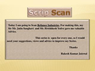 Scrip Scan