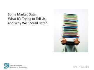 Some Market Data,  What It's Trying to Tell Us, and Why We Should Listen