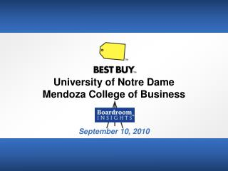 University of Notre Dame Mendoza College of Business