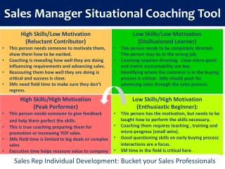 Sales Manager Situational Coaching Tool