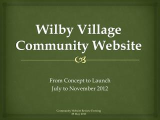 Wilby Village Community Website