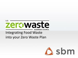 Integrating  Food Waste into your  Zero Waste Plan