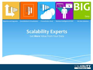 Scalability Experts Get  More  Value from Your Data