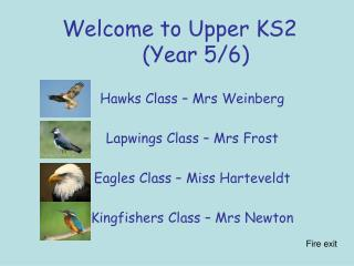 Welcome to Upper KS2      (Year 5/6)