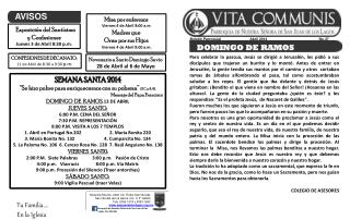 Boletín Parroquial                             Abril 2014                                                    No.37