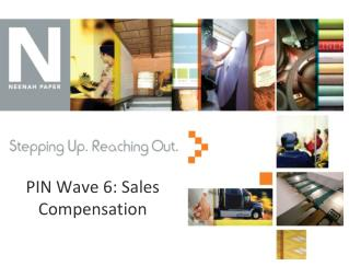 PIN Wave 6: Sales Compensation