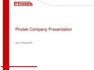 Photek Company Presentation