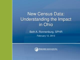 New Census Data:  Understanding the Impact in Ohio