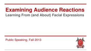 Examining Audience Reactions Learning From (and About) Facial Expressions