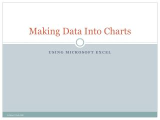 Making Data Into Charts