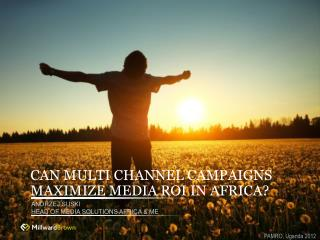 CAN MULTI CHANNEL CAMPAIGNS MAXIMIZE MEDIA ROI IN AFRICA?