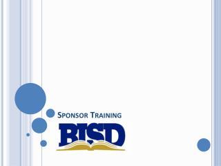 Sponsor Training