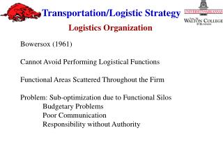 Logistics Organization